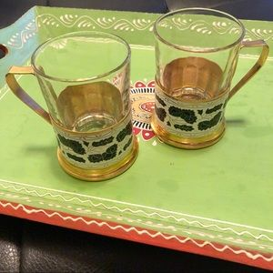 Duralex Made in France Glass Coffee Cups/Holders